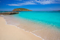 Ibiza Cala Conta Comte beach in Sant Josep Royalty Free Stock Photography