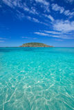 Ibiza Cala Conta Comte beach in Sant Josep Stock Photo