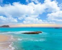 Ibiza Cala Conta Comte Compte sunset Stock Images