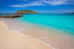 Ibiza Cala Conta Comte strand i Sant Josep Royaltyfri Fotografi