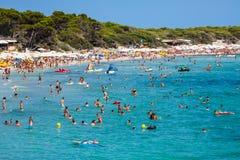 Ibiza Cala de Sant Vicent AUGUST 20, 2013: caleta de san vicent Immagini Stock
