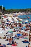 Ibiza Cala de Sant Vicent AUGUST 20, 2013: Caleta de San vicent Stockbild