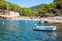 Ibiza Cala de Sant Vicent AUGUST 20, 2013: caleta de san vicent Fotografia Stock Libera da Diritti