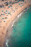 Ibiza Cala de Sant Vicent AUGUST 20, 2013: Caleta de San vicent Lizenzfreie Stockfotografie
