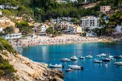 Ibiza Cala de Sant Vicent AUGUST  20, 2013: caleta de san vicent Stock Photography