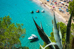 Ibiza Cala de Sant Vicent caleta de san vicente beach turquoise Stock Photos