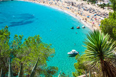 Ibiza Cala de Sant Vicent caleta de san vicente beach turquoise Royalty Free Stock Images