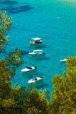 Ibiza Cala de Sant Vicent caleta de san vicente beach turquoise Stock Image