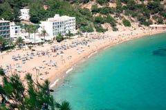 Ibiza Cala de Sant Vicent caleta de san vicente beach turquoise Stock Photography