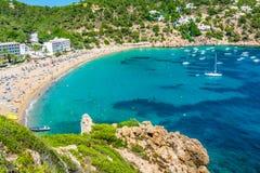 Ibiza Cala de Sant Vicent caleta de san vicente beach turquoise Royalty Free Stock Images