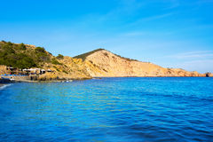 Ibiza Cala es Jondal Beach in san Jose at Balearic Royalty Free Stock Photo