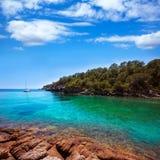 Ibiza Cala Mestella Mastella in Santa Eulalia Stock Image