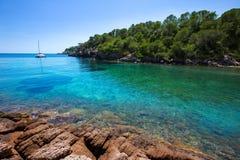 Ibiza Cala Mestella Mastella in Santa Eulalia Stock Photography