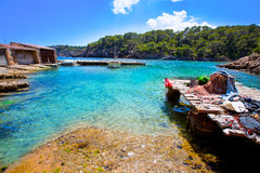 Ibiza Cala Mestella Mastella in Santa Eularia des Riu Stock Photo