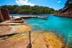 Ibiza Cala Mestella Mastella in Santa Eularia des Riu Stock Image