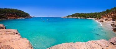 Ibiza cala Salada e Saladeta in san Antonio Abad Fotografie Stock Libere da Diritti