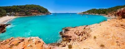 Ibiza cala Salada e Saladeta in san Antonio Abad Immagini Stock Libere da Diritti