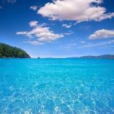 Ibiza cala San vicente beach san Juan at Balearic Islands Royalty Free Stock Images