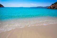 Ibiza cala San vicente beach san Juan at Balearic Islands Royalty Free Stock Image