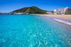 Ibiza cala San vicente beach san Juan at Balearic Islands Stock Photo