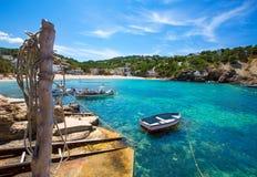 Ibiza Cala Vedella Vadella i San Jose på Balearics royaltyfri fotografi
