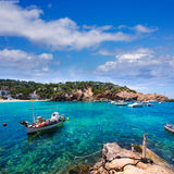Ibiza Cala Vedella Vadella in San Jose at Balearics Stock Image