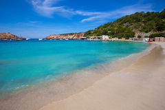 Ibiza Cala Vedella Vadella in San Jose at Balearics Royalty Free Stock Images