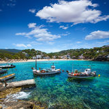 Ibiza Cala Vedella Vadella in Sant Josep at Balearics Stock Photos