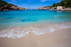 Ibiza Cala Vedella Vadella in Sant Josep at Balearics Royalty Free Stock Photography