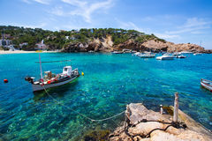 Ibiza Cala Vedella Vadella in Sant Josep at Balearics Royalty Free Stock Photos