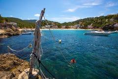 Ibiza Cala Vedella Vadella in Sant Josep at Balearics Stock Image