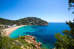 Ibiza caleta de Sant Vicent cala San vicente san Juan Royalty Free Stock Photos