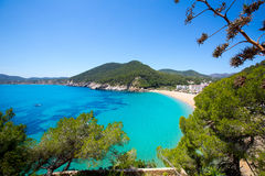 Ibiza caleta de Sant Vicent cala San vicente san Juan Royalty Free Stock Photo