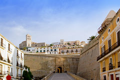 Ibiza castle fort main door Stock Photography
