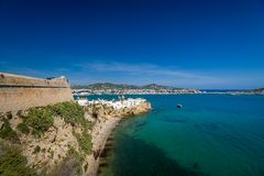 Ibiza castle wall Royalty Free Stock Image