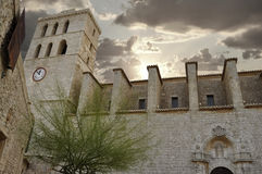 Ibiza cathedral. View of the Cathedral of Nuestra Senora de las Nieves in Ibiza royalty free stock image