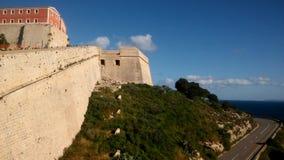 Ibiza, cidade velha de Eivissa fotografia de stock royalty free