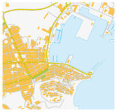Ibiza city map Royalty Free Stock Image