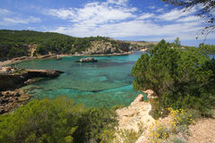 Ibiza coast line Stock Photos