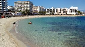 Ibiza, console mediterrâneo em Spain foto de stock royalty free