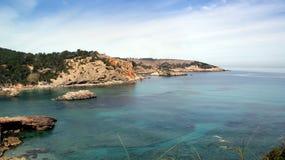Ibiza, console mediterrâneo em Spain Imagem de Stock Royalty Free