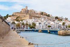 Ibiza Dalt Vila śródmieście, Ibiza, Hiszpania zdjęcia royalty free