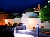 Ibiza Dalt Vila with church night lights Stock Image