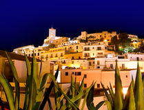 Ibiza Dalt Vila downtown in night lights Royalty Free Stock Photo