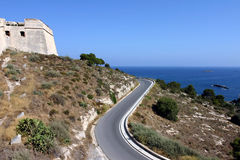 Ibiza dalt vila and road Royalty Free Stock Photography