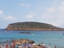 Ibiza del verano de la playa del cielo de Sun Imágenes de archivo libres de regalías