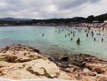 Ibiza del verano de la playa del cielo de Sun Imagen de archivo libre de regalías