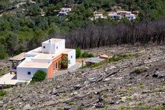 Ibiza después del fuego en el resorte 2011 Fotos de archivo libres de regalías