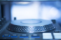 Ibiza dj turntables mixing Royalty Free Stock Photography