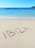 Ibiza drawing Stock Image
